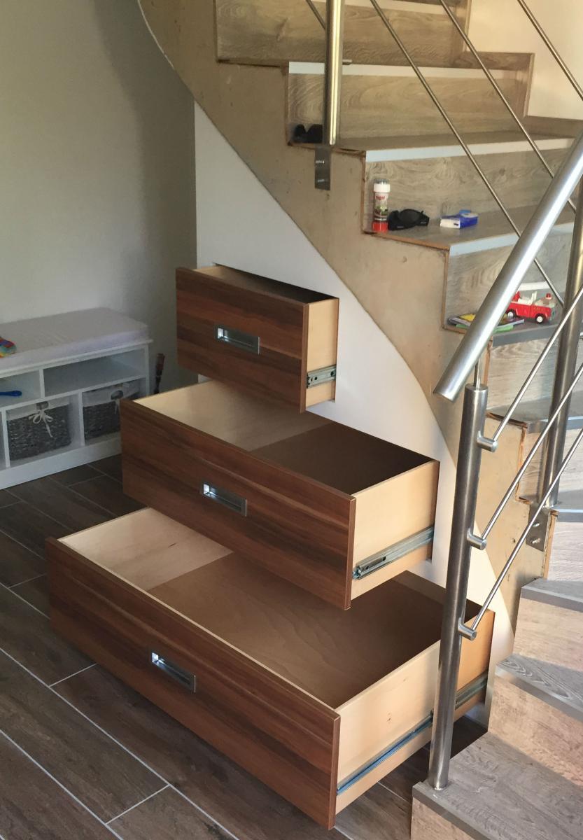 Einbauschrank Treppe Mit Auszugen